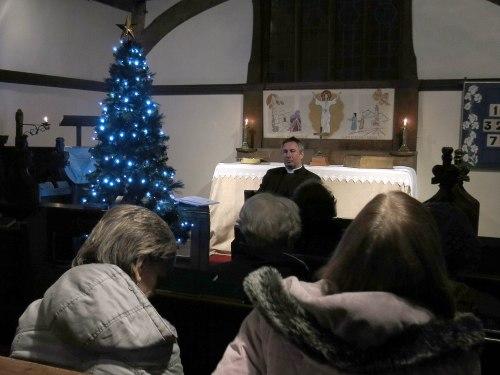 Jonathan leading worship at The Row.