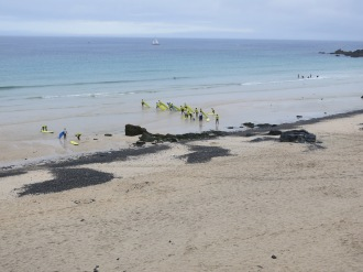 Crazy surfers on St.Ives' beach